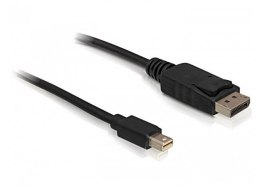 KABEL DISPLAYPORT MINI(M)->DISPLAYPORT(M) V1.2 1M 4K CZARNY DELOCK