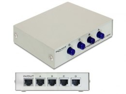SWITCH DELOCK 4X 100MB FAST ETHERNET BIDIRECTIONAL