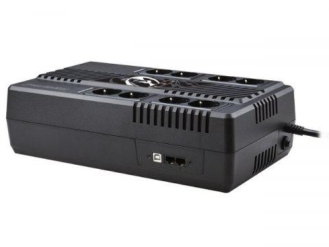 UPS POWERWALKER LINE-INTERACTIVE 1000VA MS 8X SCHUKO, RJ45 IN/OUT, USB HID, USB ŁADOWARKA