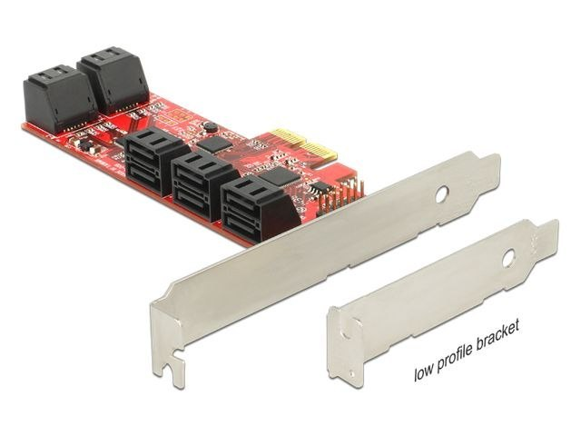 KARTA PCI EXPRESS X2->10 X SATA INTERNAL 6GB/S LOW PROFILE DELOCK