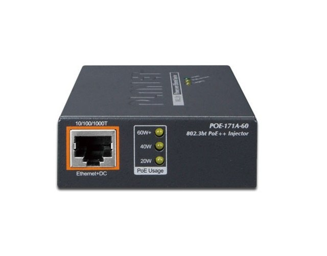POE INJECTOR PLANET POE-171A-60 1-PORT 1000MB/S 802.3BT 60W