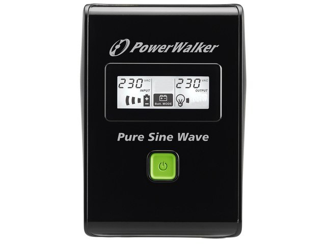 UPS POWERWALKER LINE-INTERACTIVE 600VA 3X IEC 230V, PURE SINE WAVE, RJ11/45 IN/OUT, USB, LCD