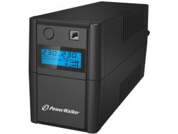 UPS POWERWALKER LINE-INTERACTIVE 650VA 2X 230V PL OUT, RJ11 IN/OUT, USB, LCD,
