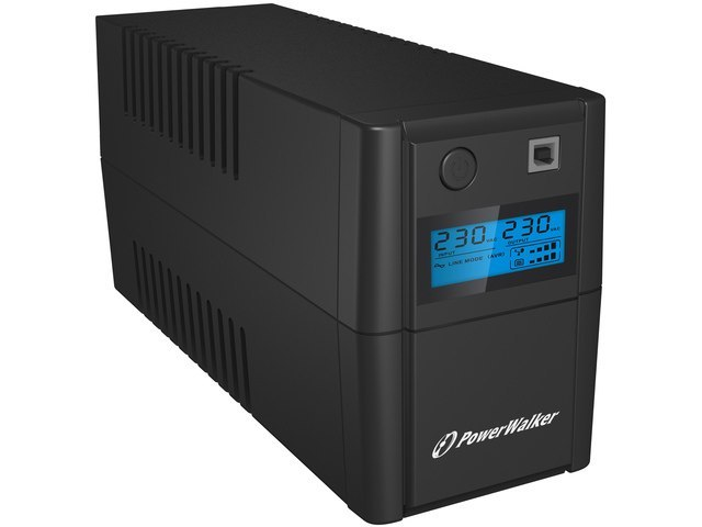 UPS POWERWALKER LINE-INTERACTIVE 850VA, 2X SCHUKO, RJ11 IN/OUT, USB, LCD